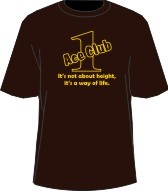 Brown/Gold Ace Club (Generation 1) Screen Printed T-shirt, Brown