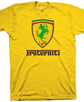 Iota Phi Theta Fraterniti (Ferrari-Style), Gold Screen Printed T-Shirt