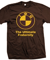 Iota Phi Theta The Ultimate Fraternity Screen Printed T-Shirt, Brown