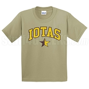 Iotas Star Screen Printed T-Shirt, Tan
