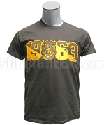 Iota Phi Theta Screen Printed T-Shirt with Crest and Founding Year, Brown