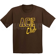 Ace Club Screen Printed T-Shirt, Brown/Gold