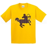 Centaur Screen Printed T-Shirt, Gold