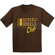 8/Eight Club Screen Printed T-Shirt, Brown/Gold