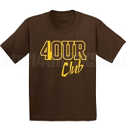 4/Four Club Screen Printed T-Shirt, Brown/Gold