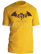Iota Phi Theta Fratman Screen Printed T-Shirt with Greek Letters, Gold