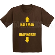 Half Man Half Horse Screen Printed T-Shirt, Brown
