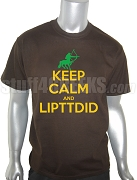 Iota Phi Theta Keep Calm Screen Printed T-Shirt, Brown