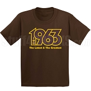 Latest and Greatest Screen Printed T-Shirt, Brown/Gold