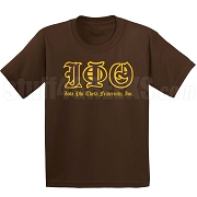 Iota Phi Theta Old English Screen Printed T-Shirt, Chocolate
