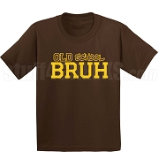 Old School Screen Printed T-Shirt, Brown/Gold