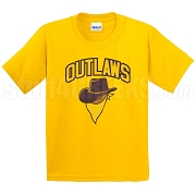 Outlaws Screen Printed T-Shirt, Gold