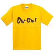 Ow-Ow Screen Printed T-Shirt, Gold
