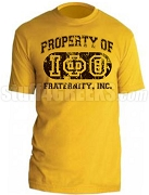 Iota Phi Theta Vintage Property DTG Printed T-Shirt with Greek Letters, Gold