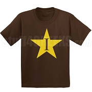 I-Star Screen Printed T-Shirt, Chocolate