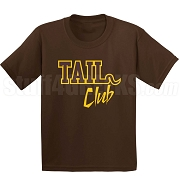 Tail Club Screen Printed T-Shirt Brown/Gold