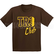 Tre Club Screen Printed T-Shirt, Brown/Gold