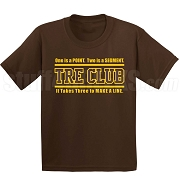 Brown/Gold Tre Club (Gen1) Screen Printed T-Shirt, Brown