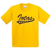 Iotas with Tail Screen Printed T-Shirt, Gold