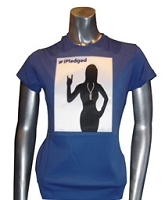 iPledged Zeta Phi Beta, Royal Ladies Screen Printed Tee