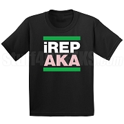 Alpha Kappa Alpha iREP Screen Printed T-Shirt, Black