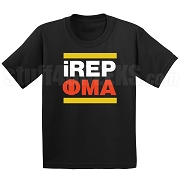 Phi Mu Alpha iREP Screen Printed T-Shirt, Black