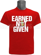 Kappa Alpha Psi Earned Not Given Screen Printed T-Shirt, Red