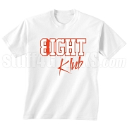 8/Eight Klub Screen Printed T-Shirt, White/Red