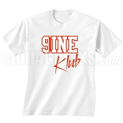 9/Nine Klub Screen Printed T-Shirt, White/Red