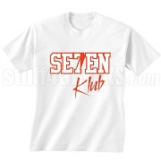 7/Seven Klub Screen Printed T-Shirt, White/Red