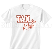 Tail Klub Screen Printed T-Shirt, White/Red