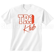 Tre Klub Screen Printed T-Shirt, White/Red
