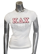 Kappa Delta Chi Greek Letter Screen Printed T-Shirt, White