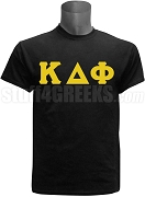 Kappa Delta Phi Greek Letter Screen Printed T-Shirt, Black