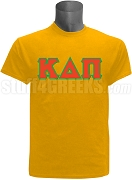 Kappa Delta Pi Men's Greek Letter Screen Printed T-Shirt, Gold