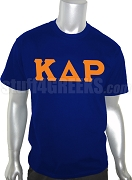 Kappa Delta Rho Screen Printed T-Shirt with Greek Letters, Navy Blue