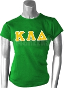 Kappa Lambda Delta Greek Letter Screen Printed T-Shirt, Kelly Green