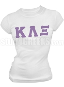 Kappa Lambda Xi Greek Letter Screen Printed T-Shirt, White