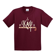 KappaNupeGear - Kappa, Cane and Founding Year T-Shirt, Crimson - Screen Printed