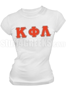 Kappa Phi Lambda Greek Letter Screen Printed T-Shirt, White