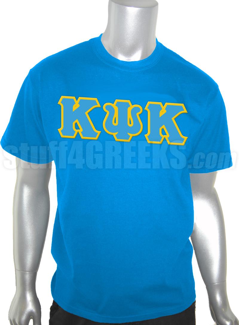 Navidad Oscurecer Movimiento  Kappa Psi Kappa Greek Letter Screen Printed T-Shirt, Columbia Blue