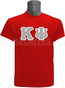 Kappa Psi Men's Greek Letter Screen Printed T-Shirt, Red