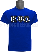 Kappa Psi Omega Greek Letter Screen Printed T-Shirt, Royal Blue