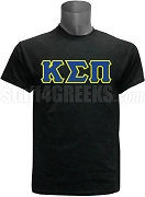 Kappa Sigma Pi Greek Letter Screen Printed T-Shirt, Black