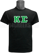 Kappa Sigma Greek Letter Screen Printed T-Shirt, Black