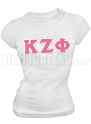 Kappa Zeta Phi Greek Letter Screen Printed T-Shirt, White