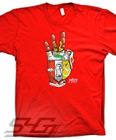 Kappa Hand Crest, Red Screen Printed T-Shirt