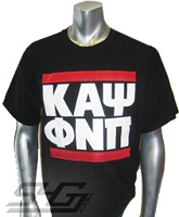 Kappa RUN DMC Screen Printed T-shirt, Black