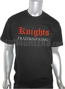 Knights Fraternity, Inc. Screen Printed T-Shirt, Black