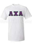 Lambda Chi Alpha Greek Letter Screen Printed T-Shirt, White